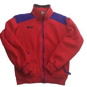 VTG Columbia Red Full Zip Fleece Jacket Sweater M
